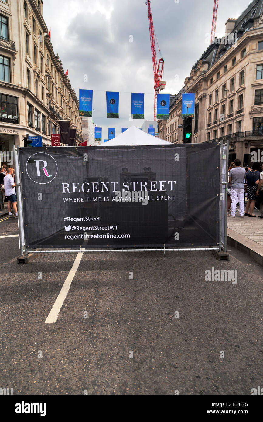 London, UK. 20th July, 2014. Regent Street Traffic-Free Sundays in July Event, Regent  Street, Credit:  Keith Erskine/Alamy - Stock Image
