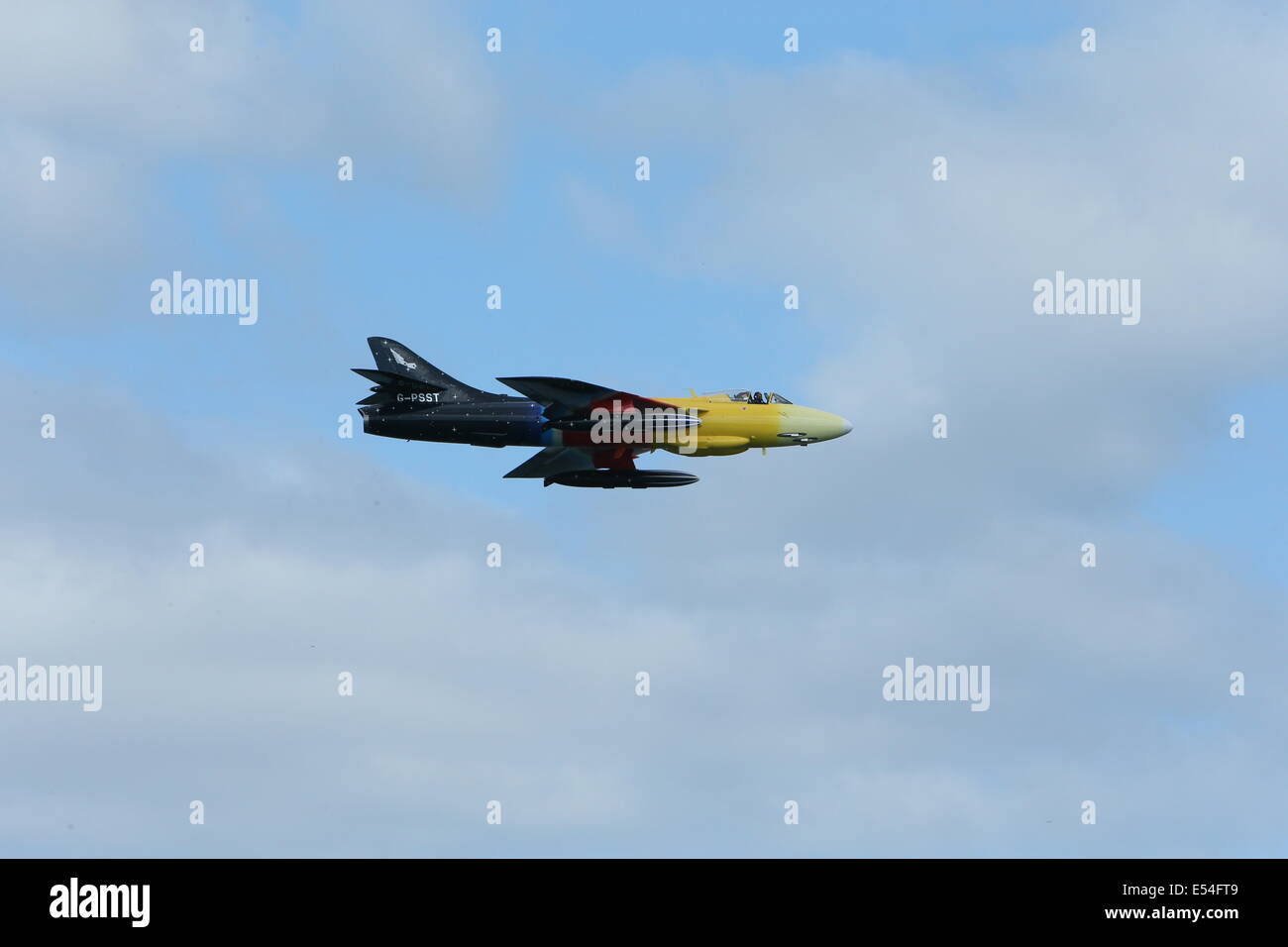Bray, County Wicklow, Ireland. 20th July, 2014. The Hawker Harrier F58A Miss Demeanour during the Bray Air Display Stock Photo