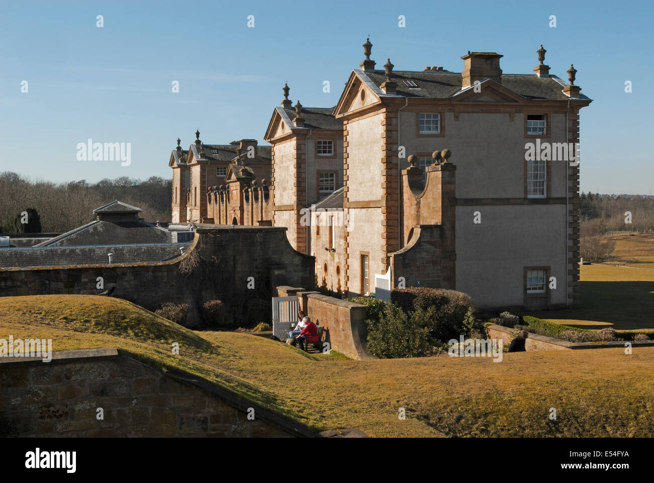 Chatelherault  hunting lodge and country park. - Stock Image