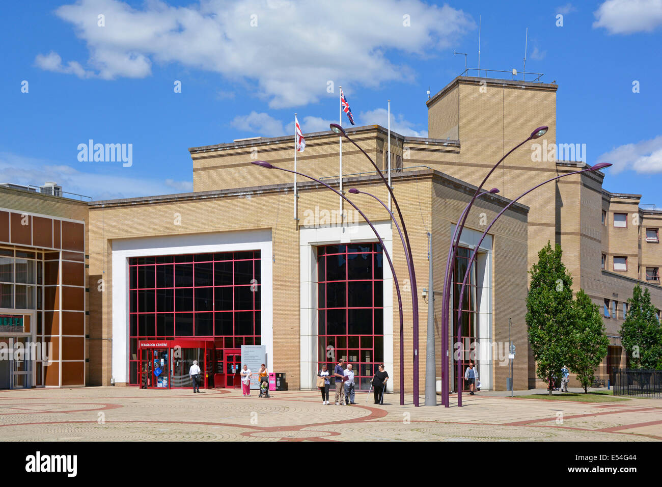 St Martins Square in Basildon new town centre with offices of various local and national government departments - Stock Image