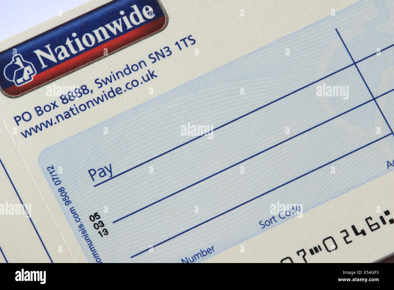 Building Society Cheque Nationwide