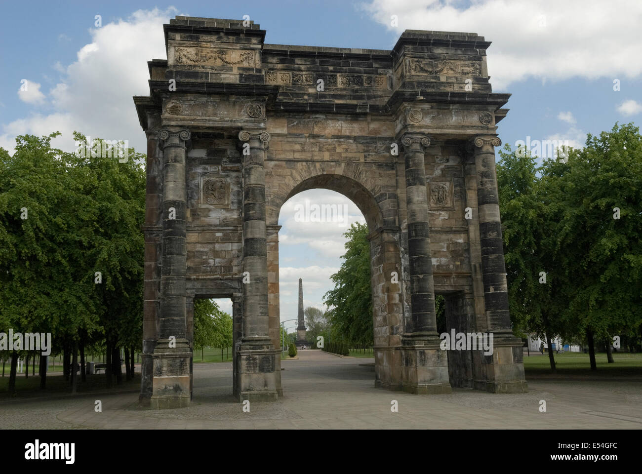 The MacLennan Arch at the entrance to  Glasgow Green - Stock Image