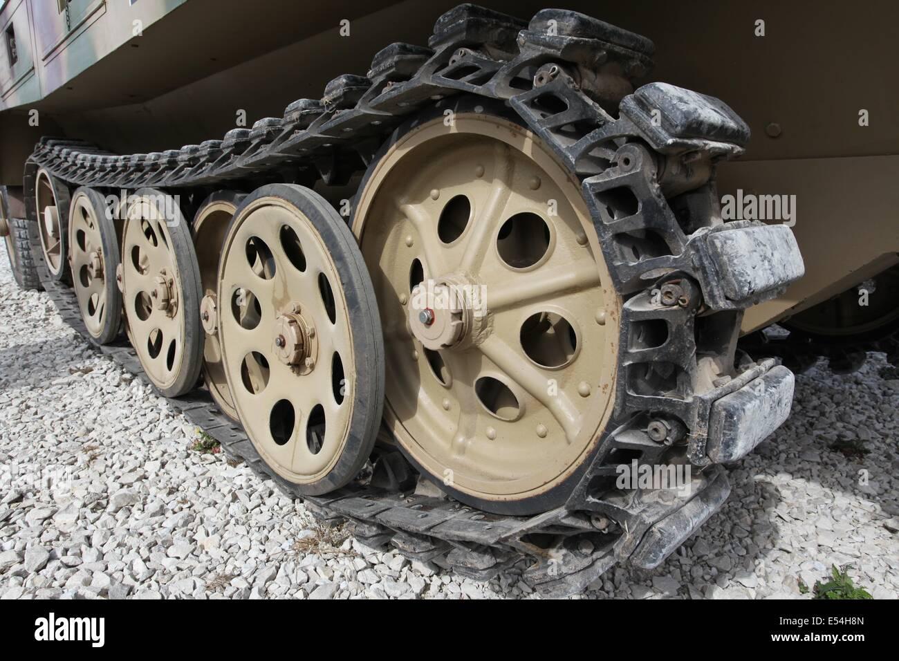 German Sd.Kfz. 250 half track - Bovington Stock Photo