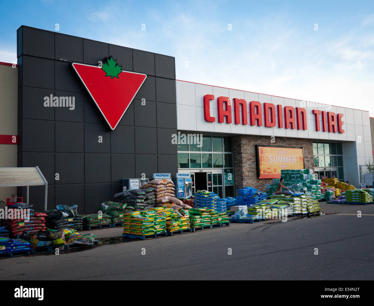 A Canadian Tire store and the Canadian Tire logo  Edmonton, Alberta