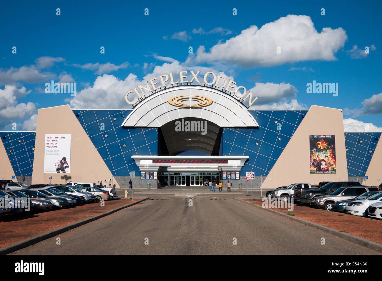 A Cineplex Odeon movie theatre in Edmonton, Alberta, Canada. - Stock Image