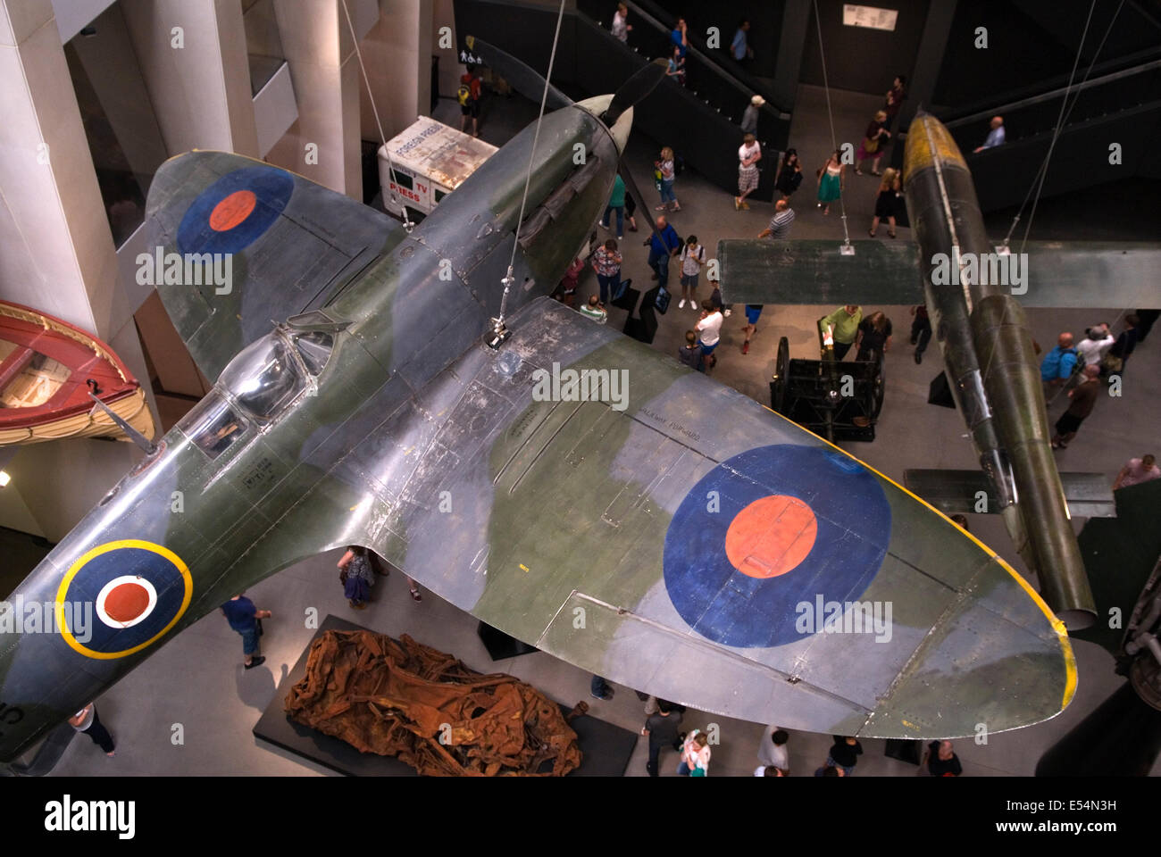Imperial War Museum London UK  New display new atrium 2014.  HOMER SYKES Stock Photo