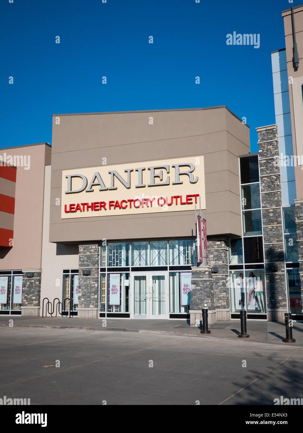 8f87c746f9c A Danier Leather factory outlet store at South Edmonton Common in Edmonton