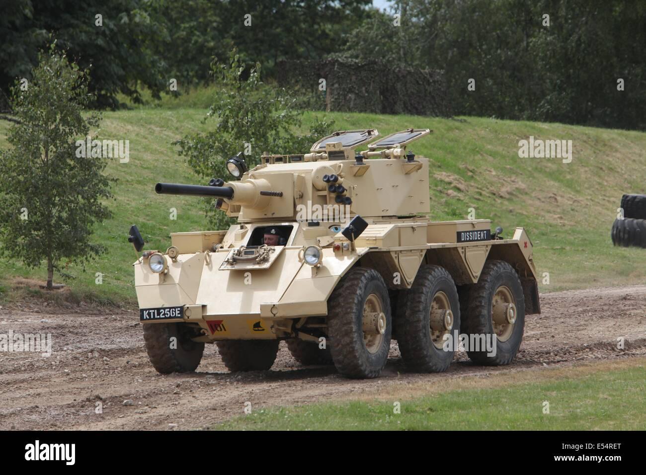 FV601 Alvis Saladin Armoured Car - Bovington Stock Photo