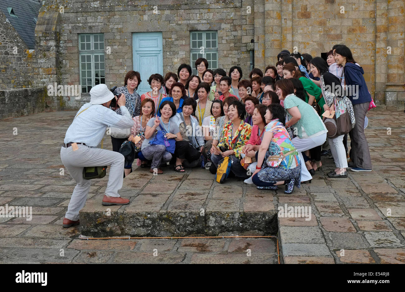group of people being photographed - Stock Image