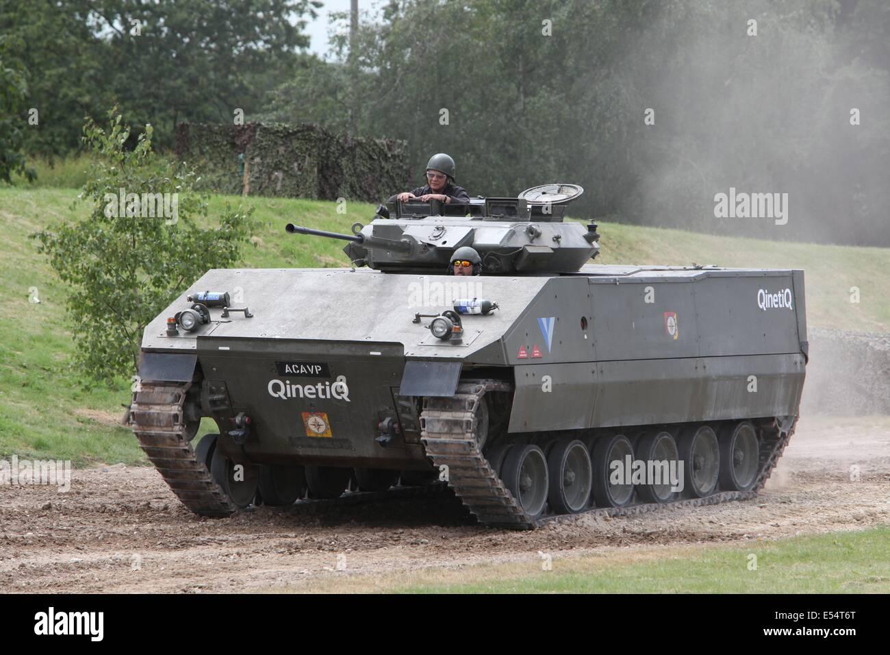 ACAVP QINETIQ Plastic Tank Bovington Tankfest 2014 - Stock Image
