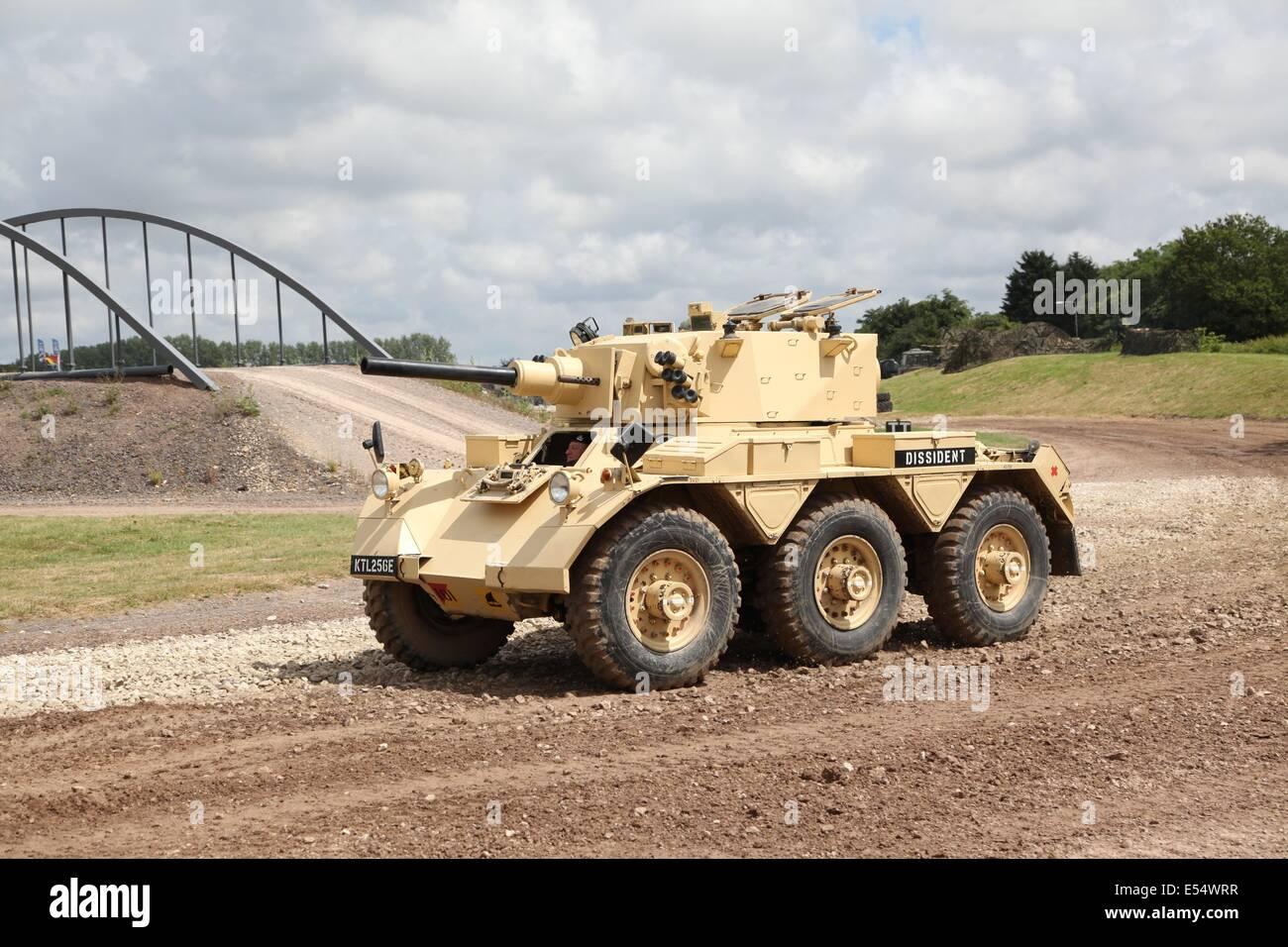 FV601 Alvis Saladin Armoured Car Bovington Tankfest 2014 - Stock Image