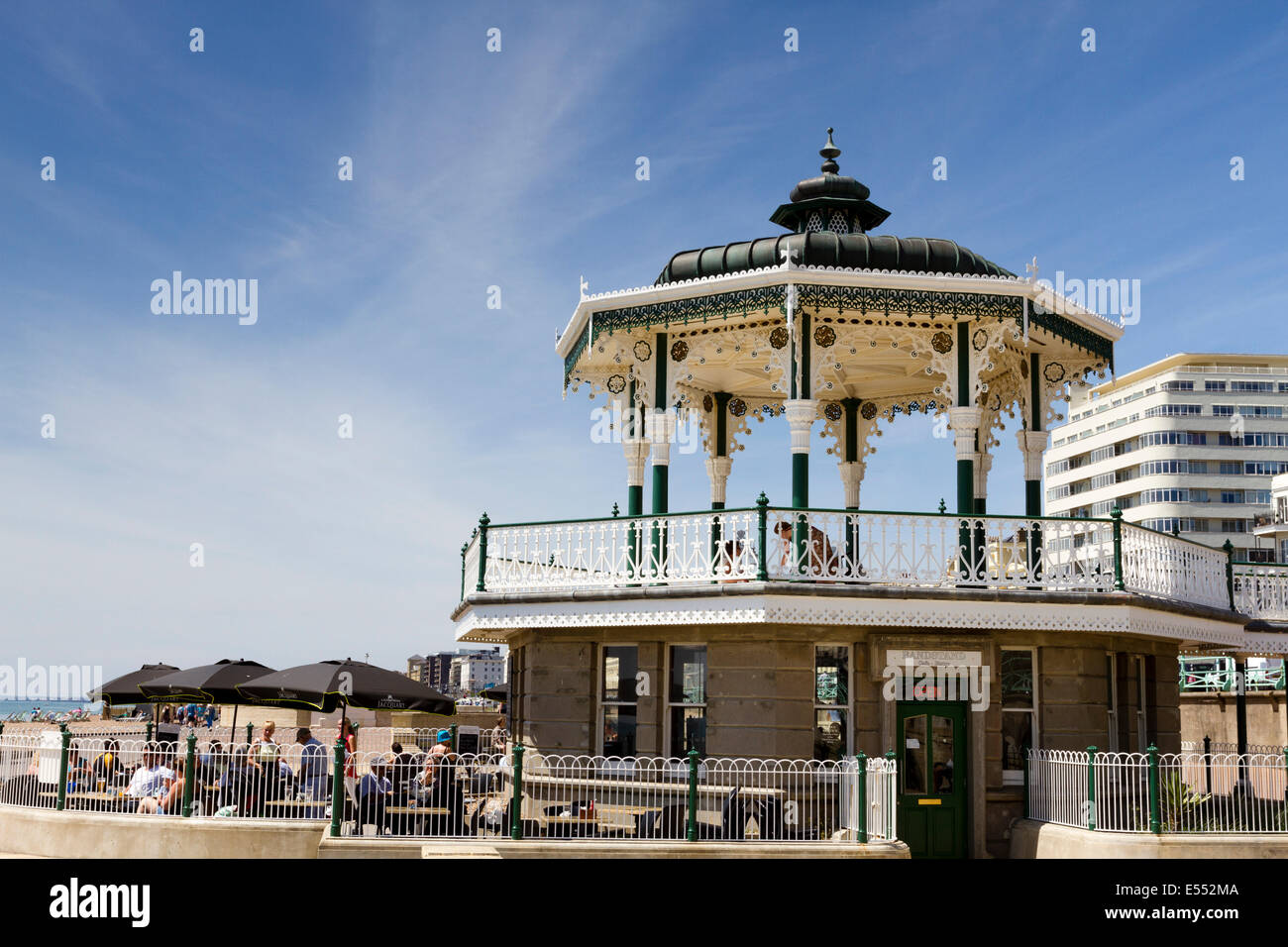 Brighton Bandstand cafe, East Sussex, England, UK - Stock Image