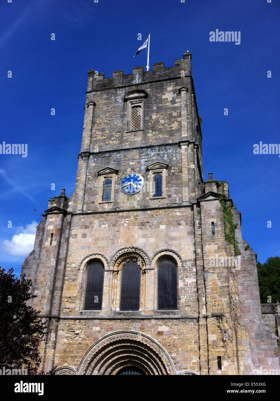 CHEPSTOW, Wales. Tower of St Mary's Church. Photo Tony Gale - Stock Image