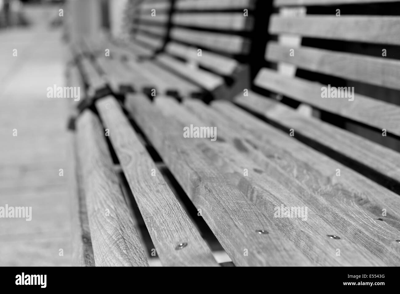 Leer banks in black and white - Stock Image