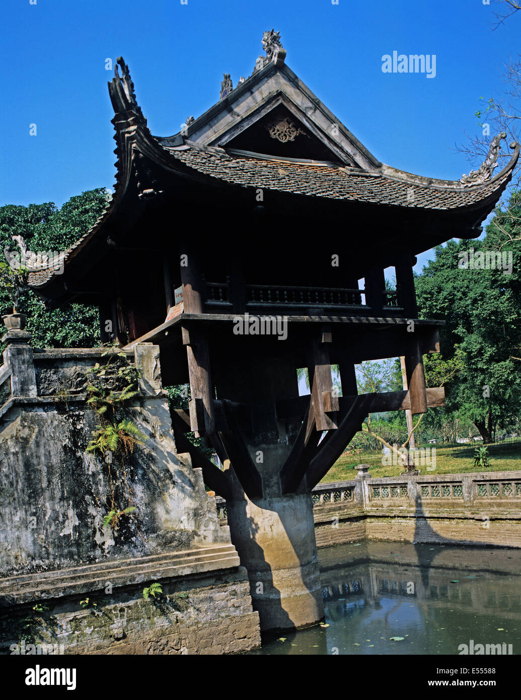 The One Pillar Pagoda, Hanoi, Vietnam Stock Photo