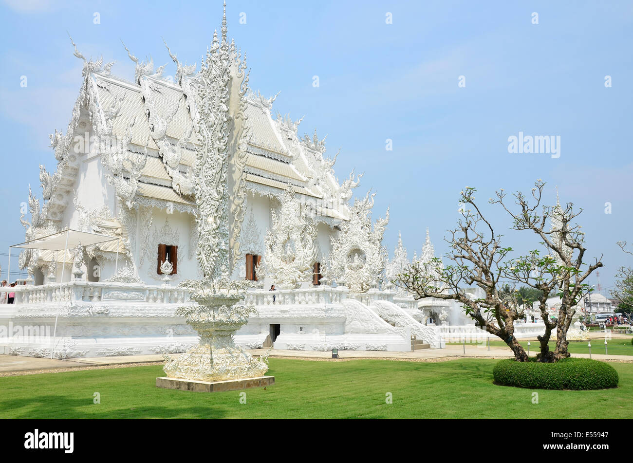 Buddhist-Hindu temple complex Wat Rong Khun, Thailand Stock Photo