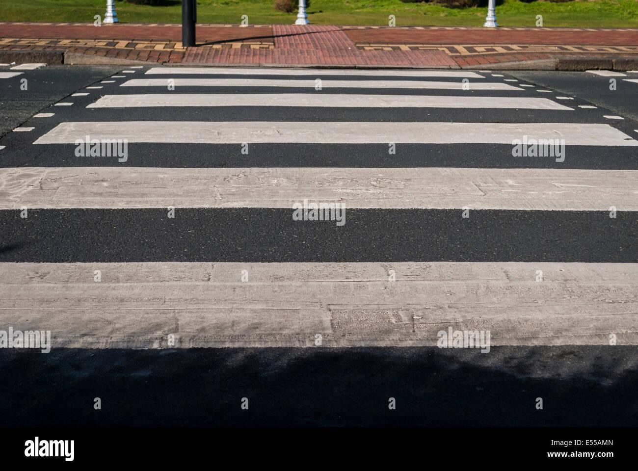 A Zebra/Pedestrian Crossing in England. - Stock Image