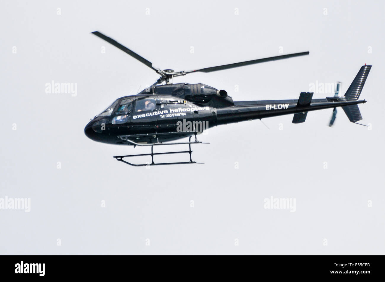 Executive Helicopter Maintenance Ltd Eurocopter AS355N Squirrel helicopter EI-LOW, formerly LN-OGP, (2000) at the - Stock Image