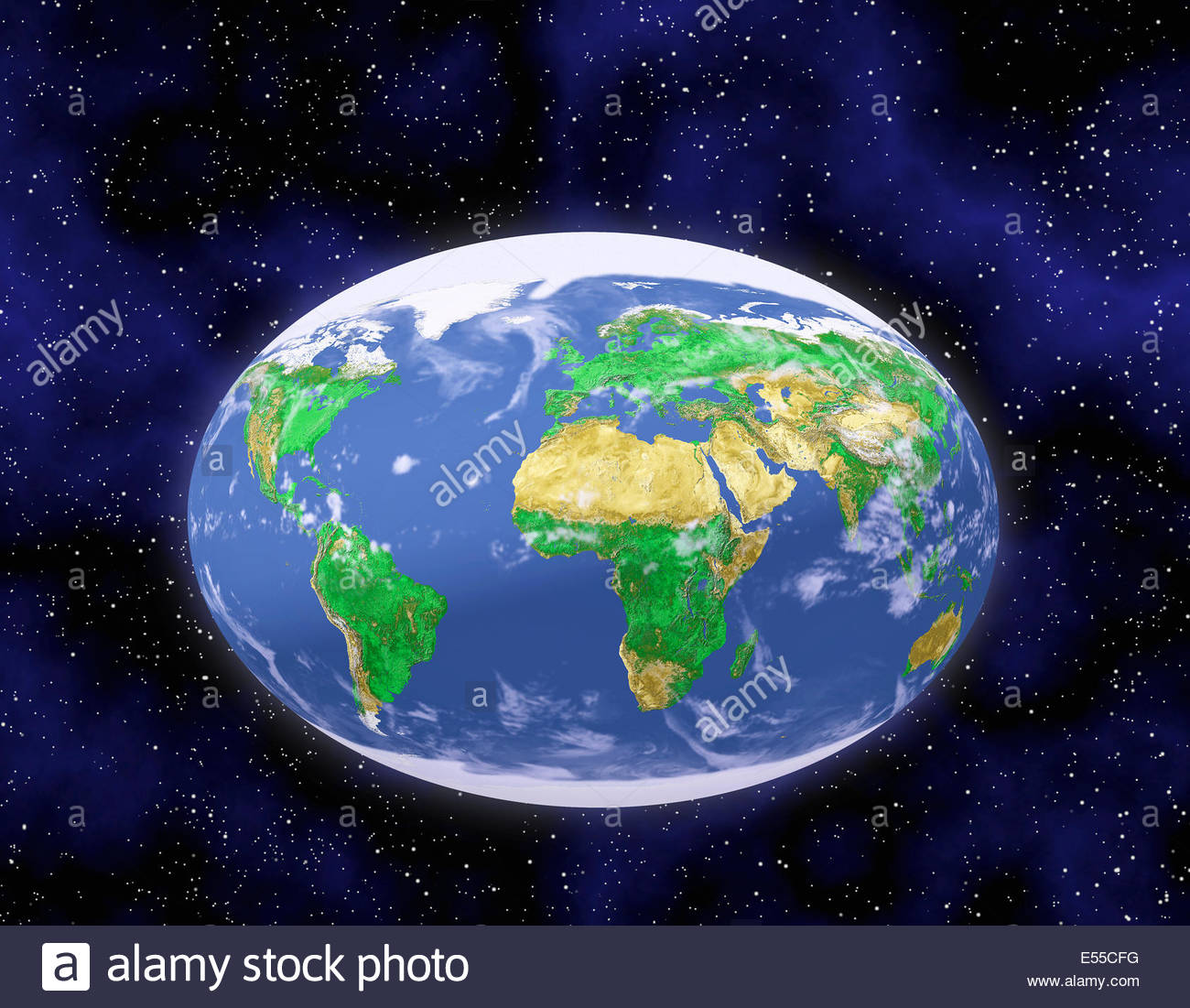 Earth map oval stock photos earth map oval stock images alamy illustration of oval earth showing all of continents in one view stock image gumiabroncs Image collections
