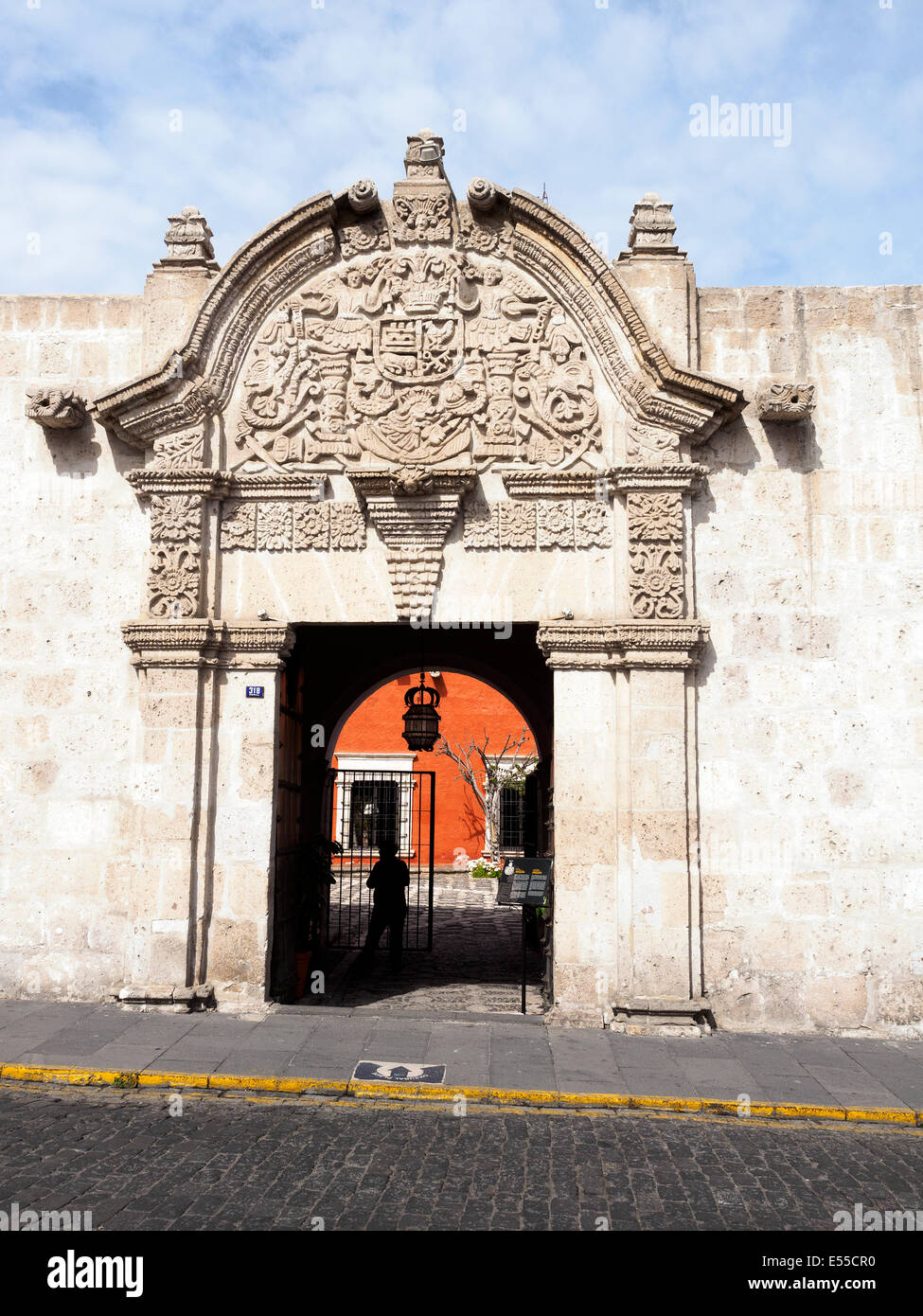Casa del Moral (House of the Moral) entrance - Arequipa, Peru - Stock Image