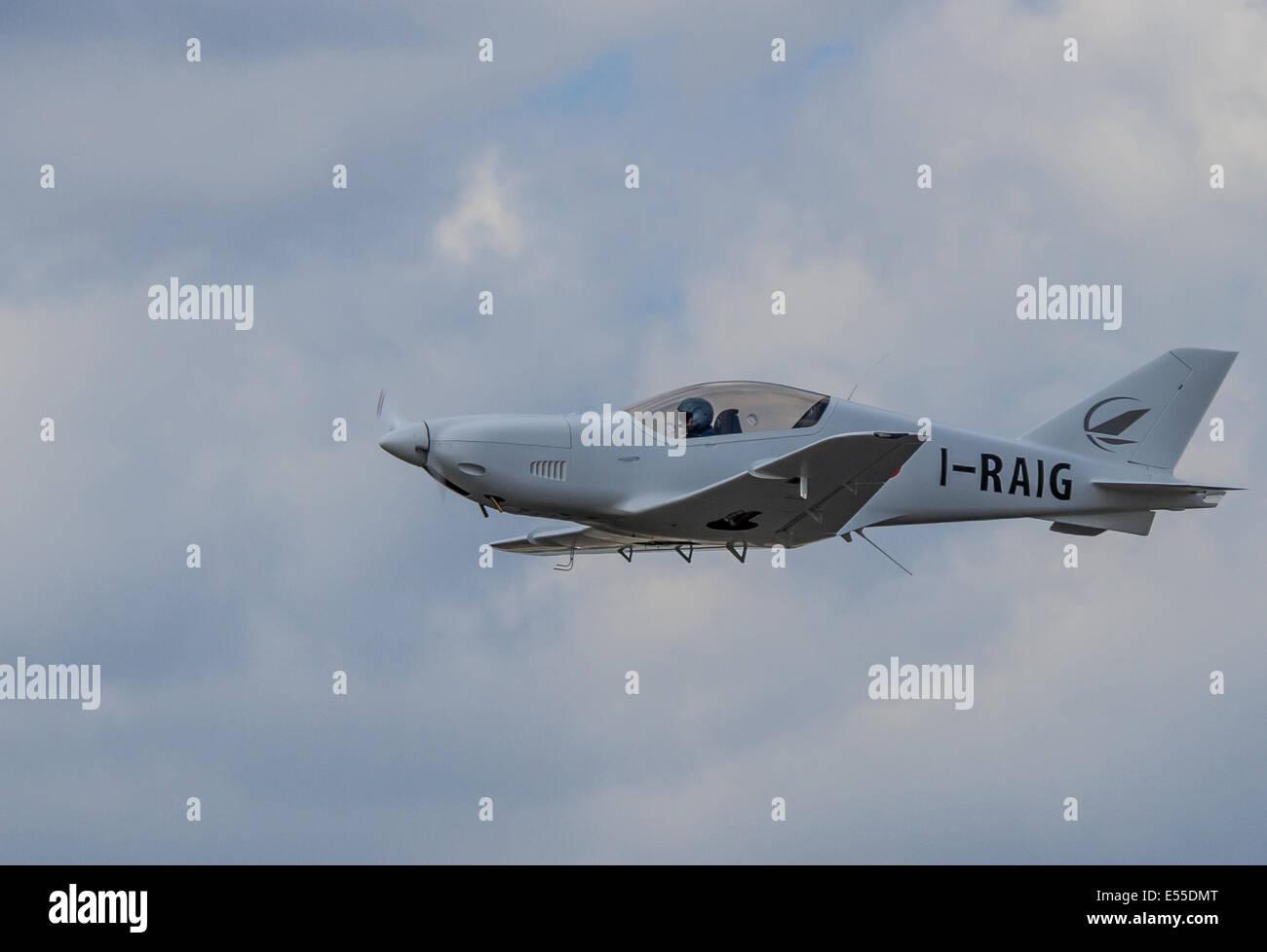 Alenia Aermacchi T-346A Master At Farnborough International Air Show July 15th 2014 - Stock Image