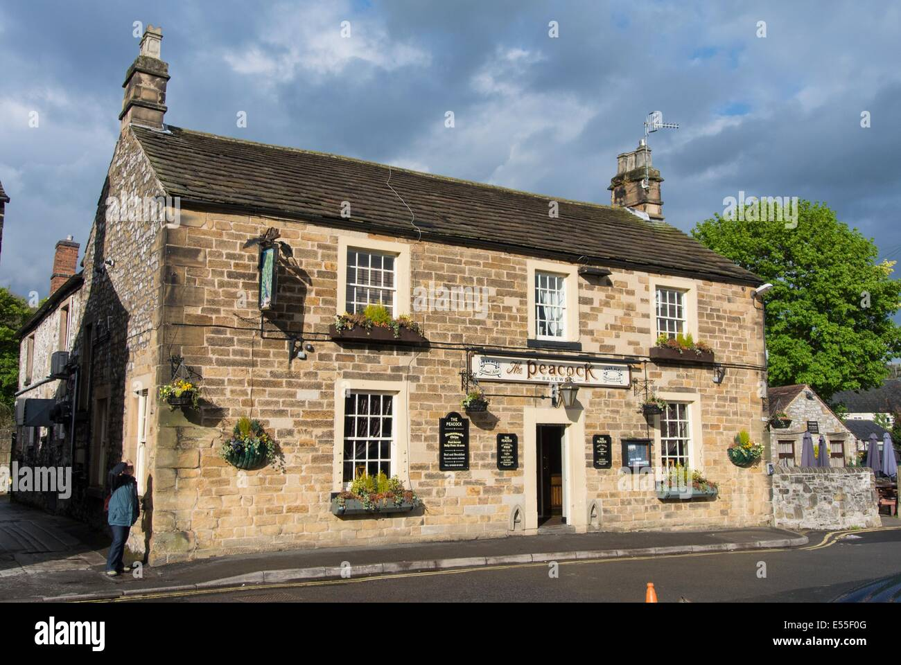 The Peacock public house, Bakewell, Derbyshire, England - Stock Image