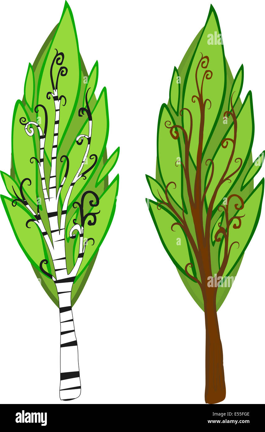 Illustration Of Two Cartoon Trees With Light And Dark Leaves Brown Stock Photo Alamy 14,045 bark cartoons on gograph. alamy