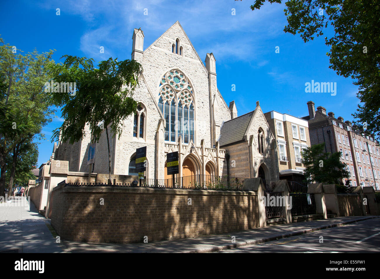 Highgate Road Chapel, Chetwynd Rd, London Borough of Camden, NW5 1BU - currently partially residential church Stock Photo
