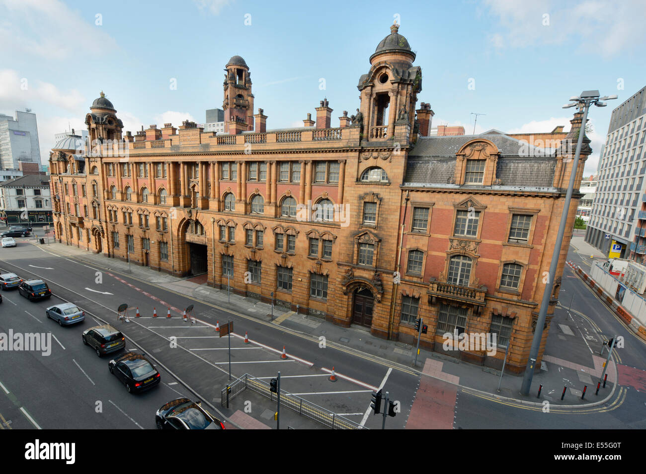The vacant Edwardian baroque London Road Fire Station building located near to Piccadilly Rail Station in Manchester. - Stock Image