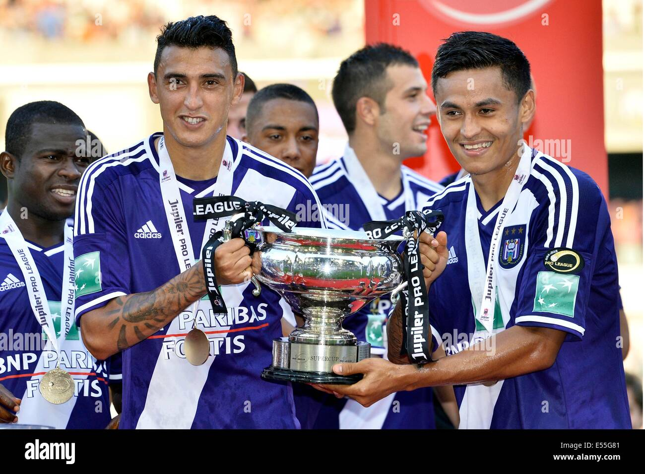 Brussels Belgium 20th July 2014 Super Cup Final Of The Belgian Stock Photo Alamy