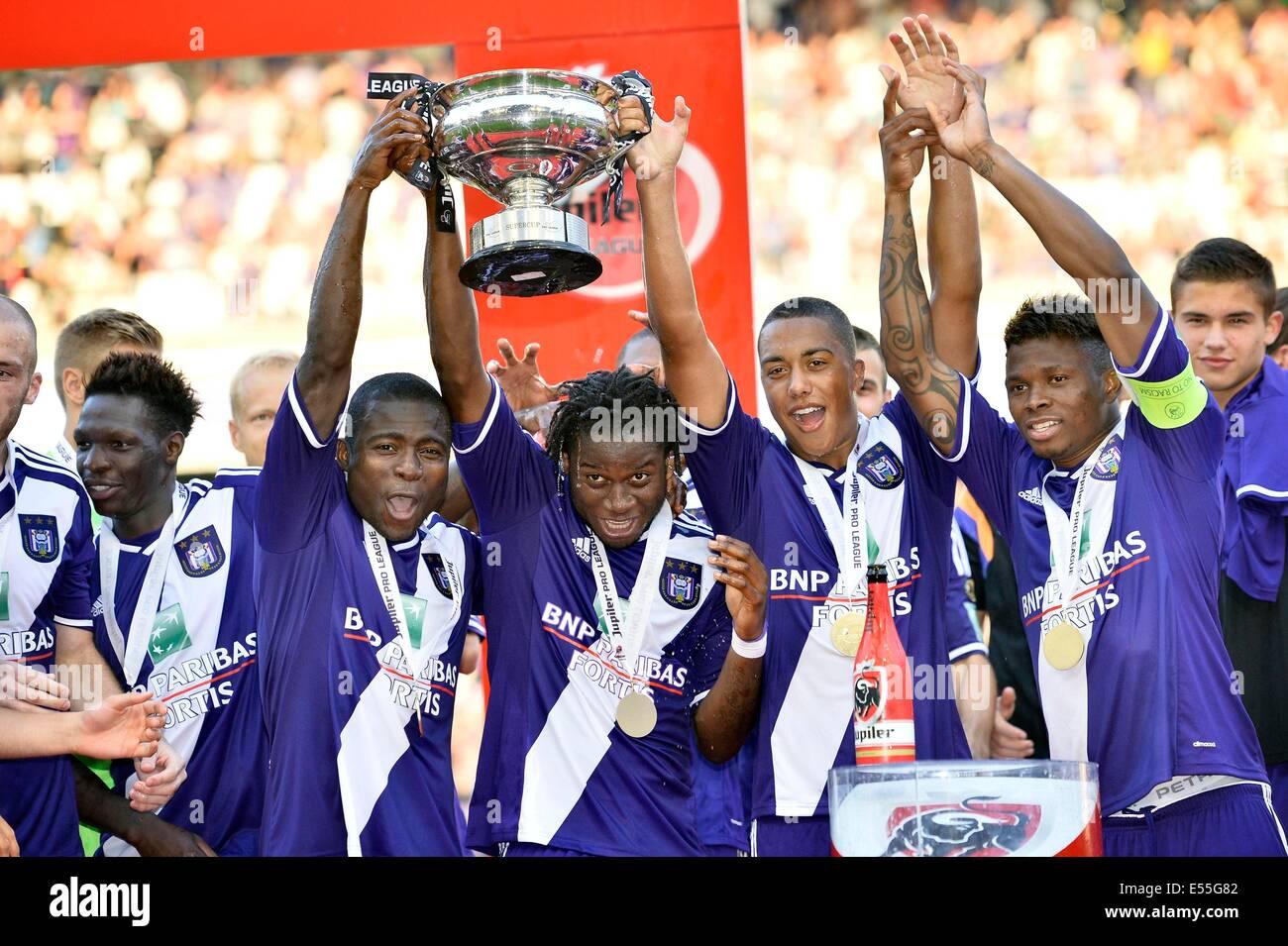Brussels, Belgium. 20th July, 2014. Super Cup final of the Belgian Juliper League, between Anderlecht and Lokeren. - Stock Image