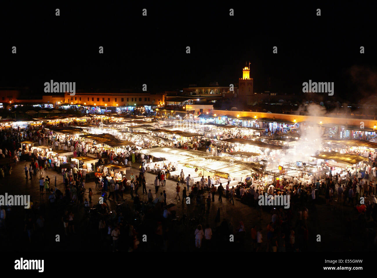 Jemaa el-Fnaa, square and market place in Marrakesh, Morocco Stock Photo