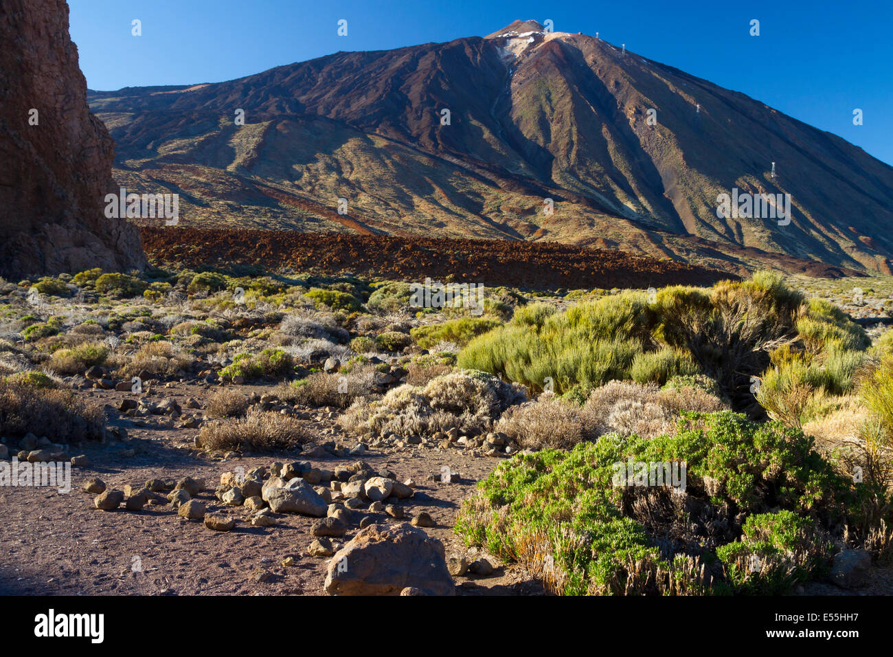 Teide volcano and lava formation. Teide National Park. La Orotava, Tenerife, Canary Islands, Atlantic Ocean, Spain, - Stock Image