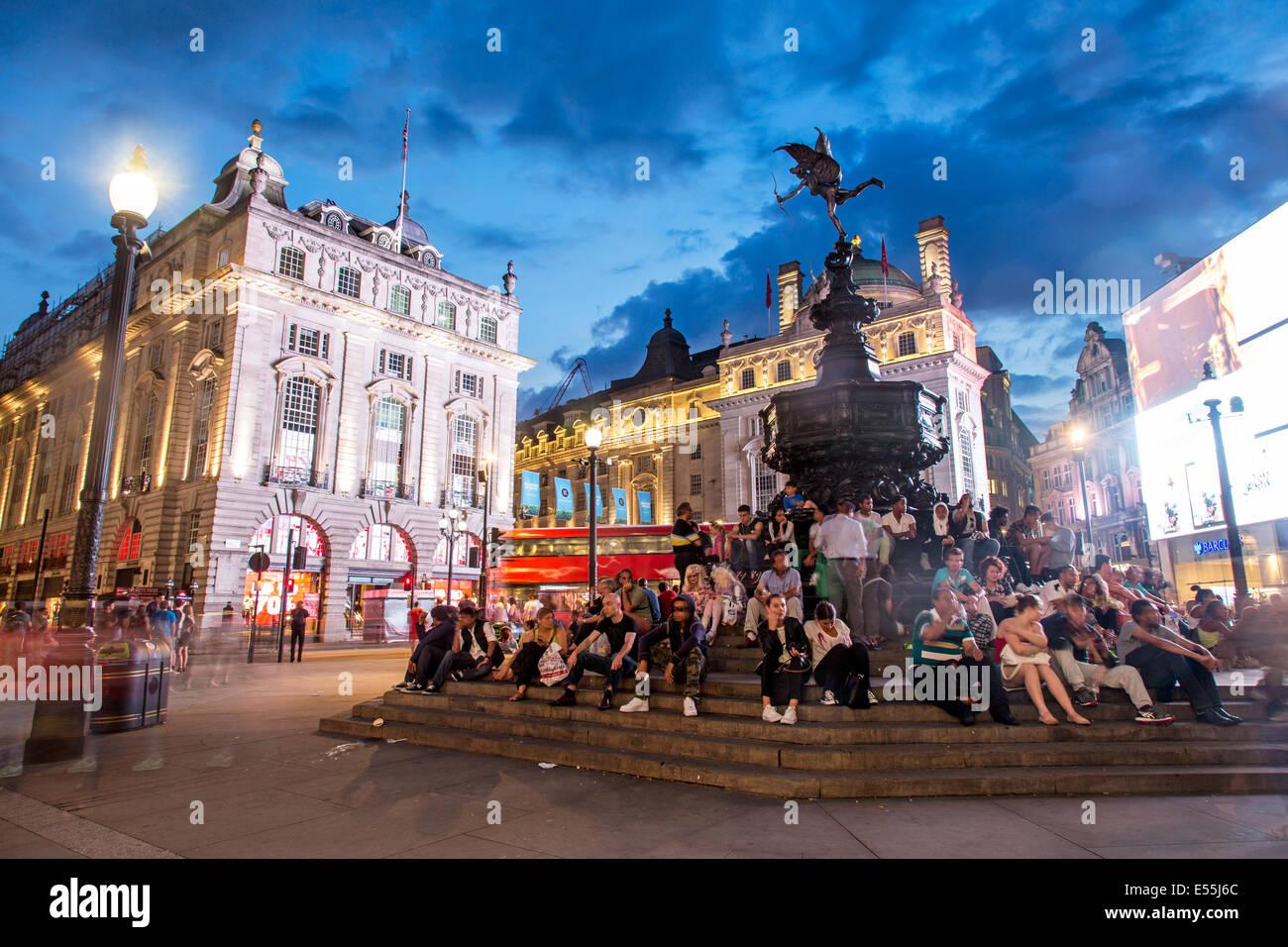 Piccadilly Circus London UK - Stock Image