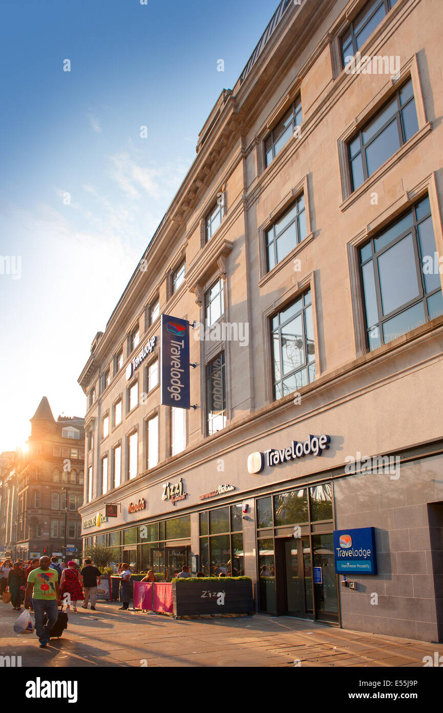 travelodge hotel picadilly manchester - Stock Image