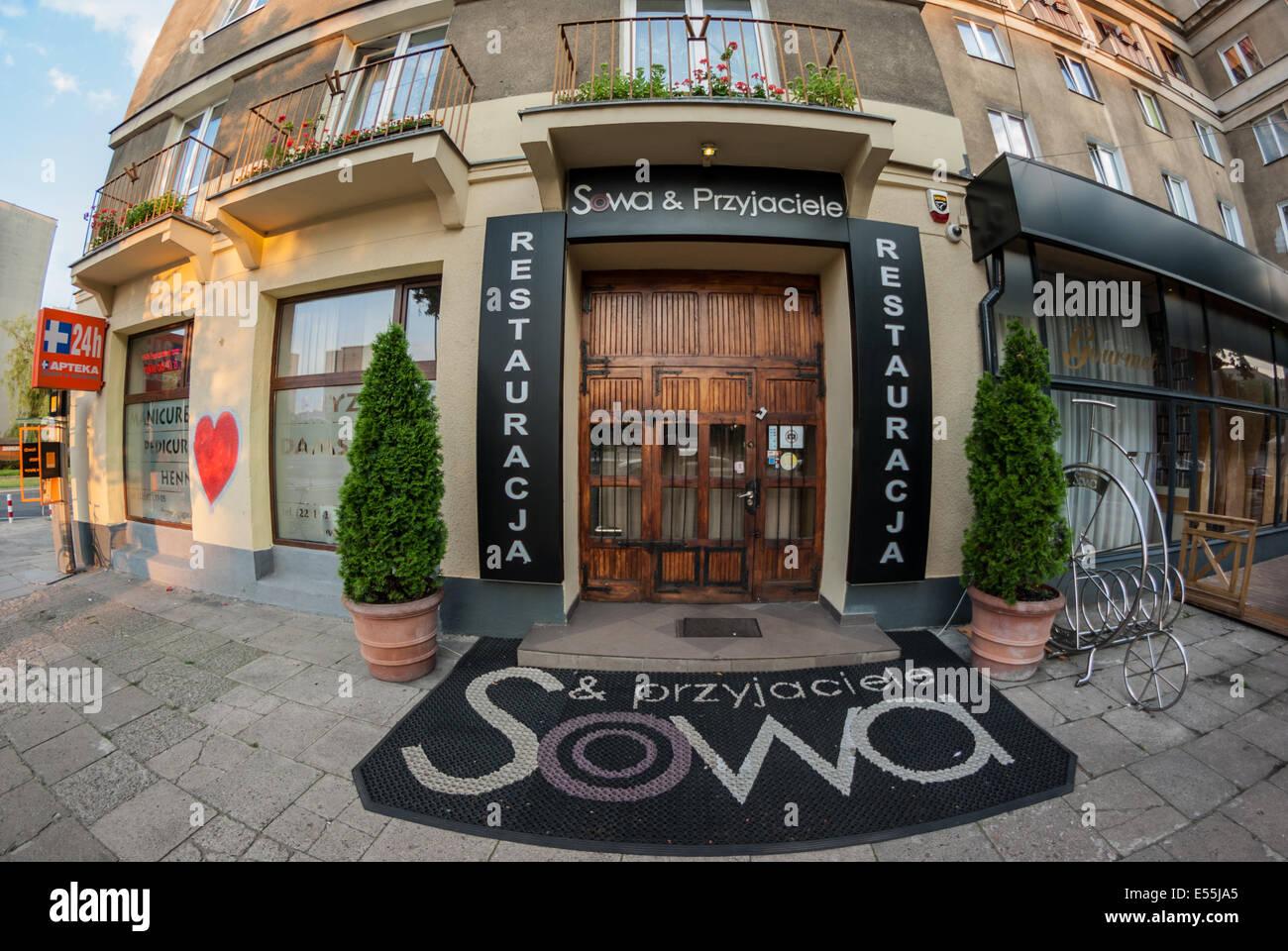 Restauracja Sowa i Przyjaciele  (Owl and Friends Restaurant), Warsaw, Poland - Stock Image
