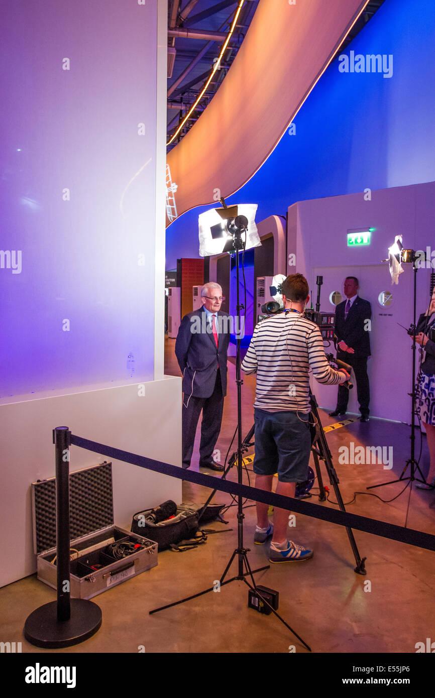 Ian King Chief Executive BAE Systems At Farnborough International Air Show July 15th 2014 - Stock Image