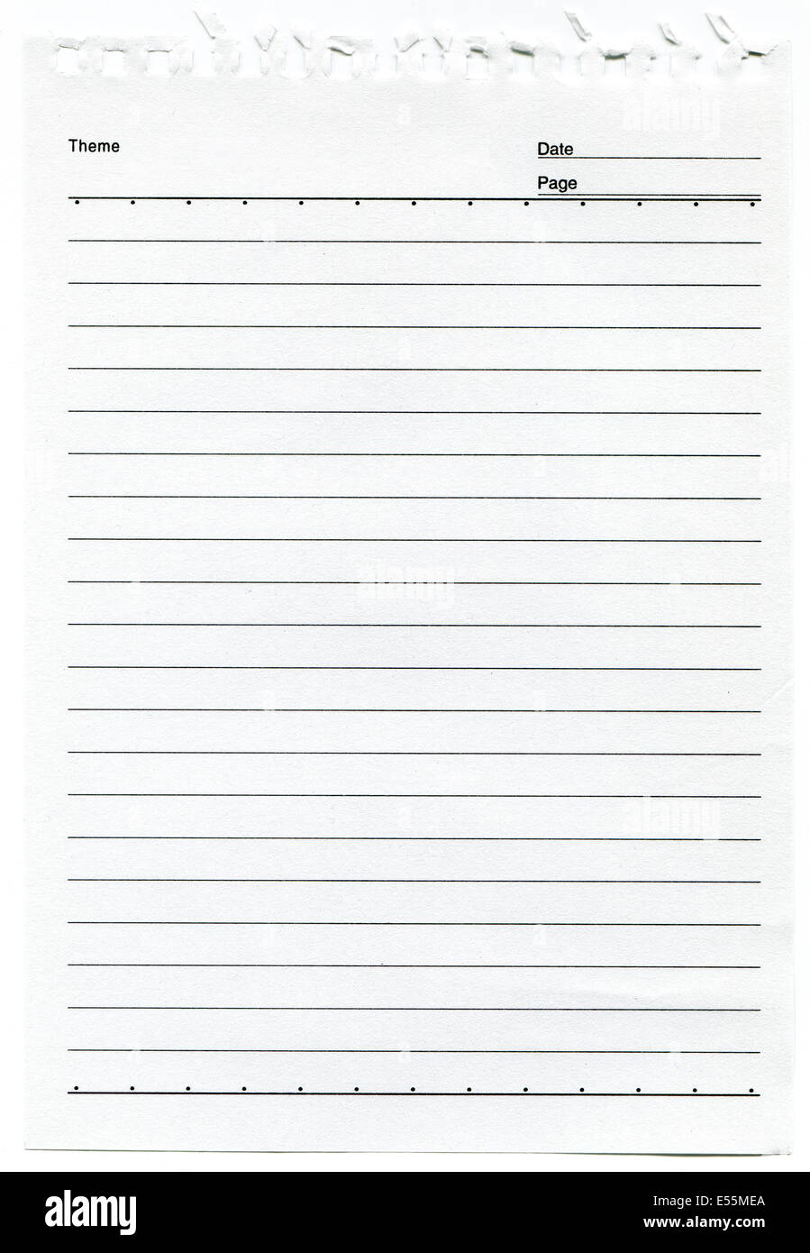 Lined Paper Background Stock Photo 72040594 Alamy