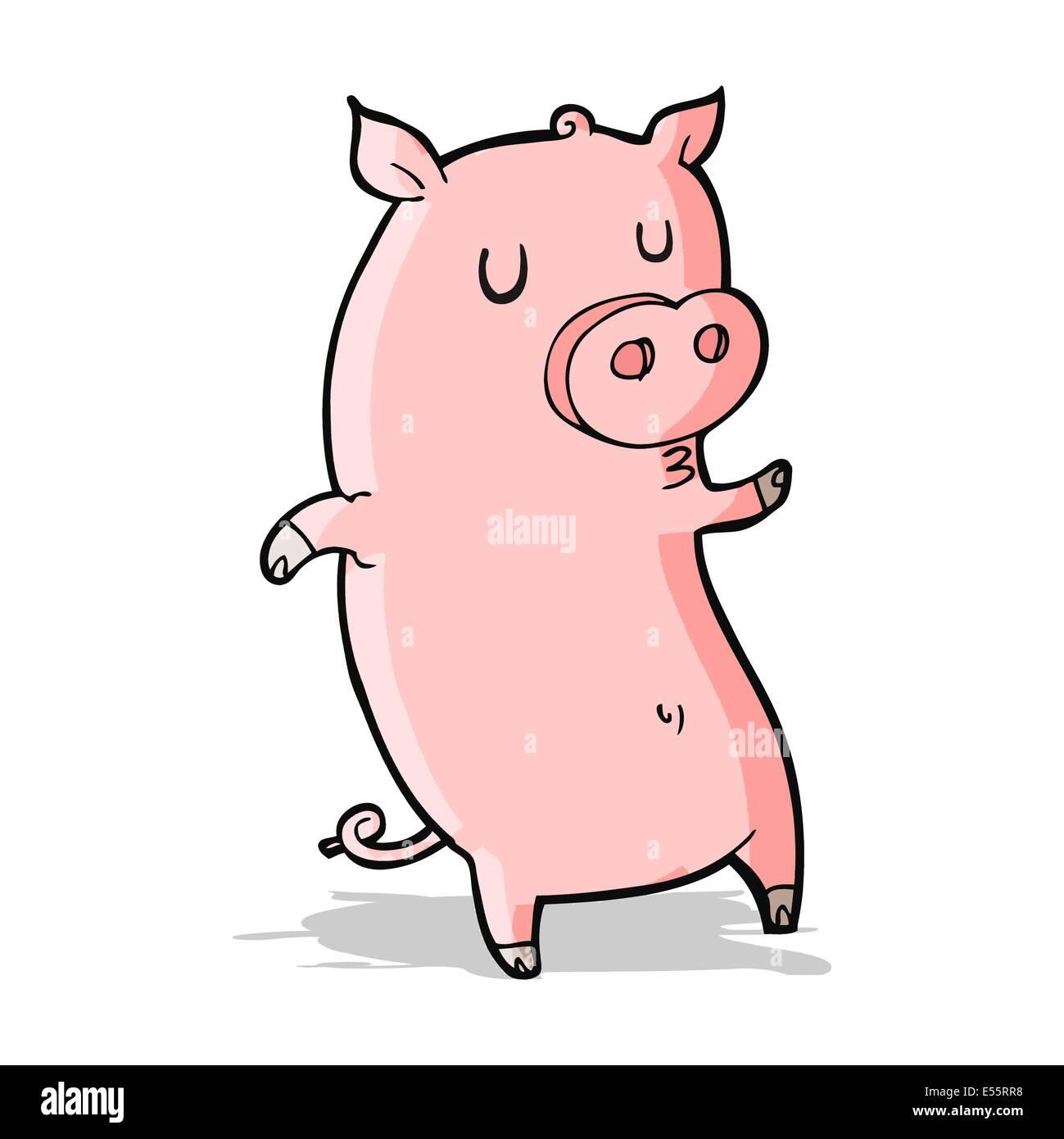 funny cartoon pig stock vector art illustration vector image