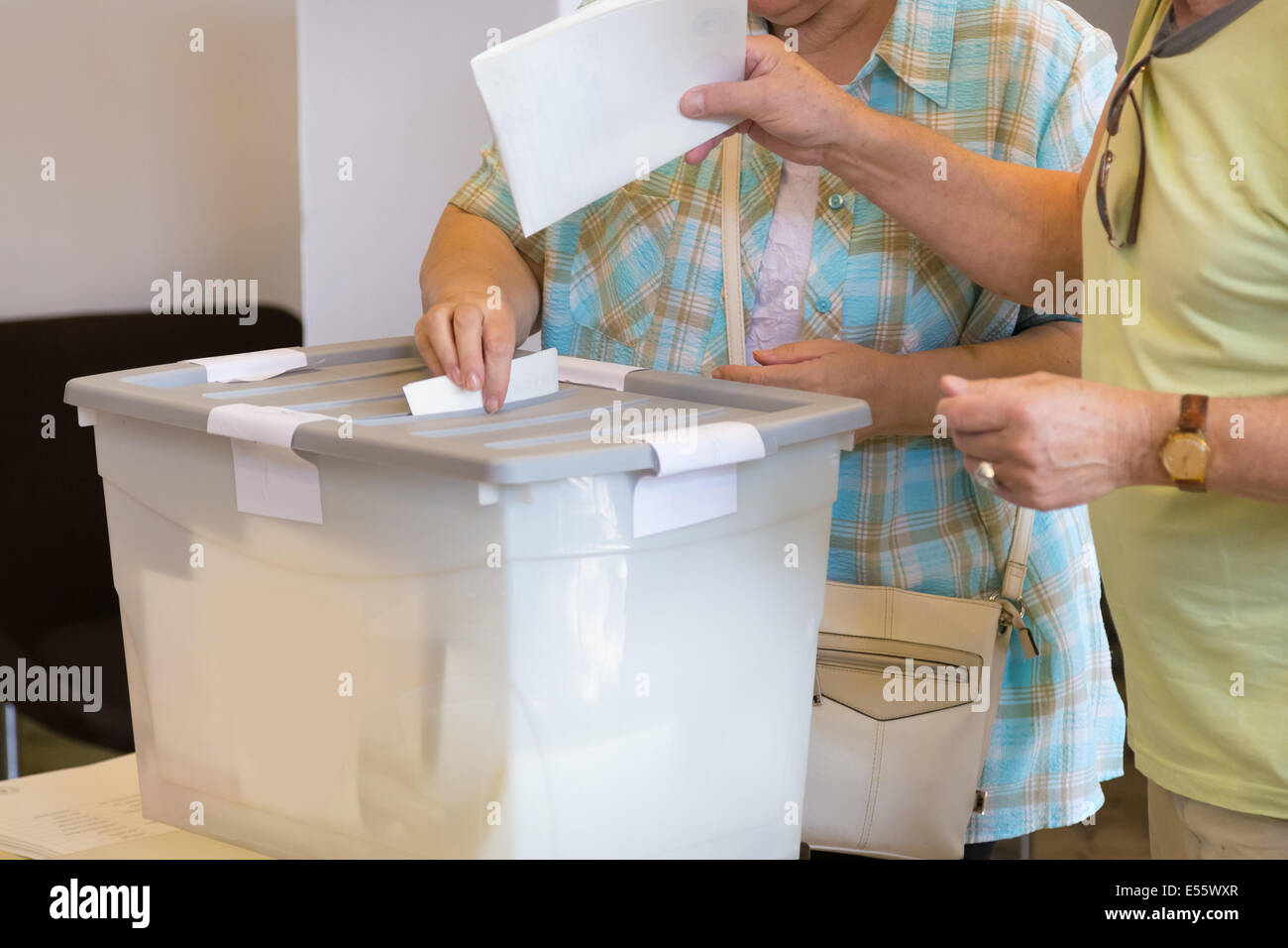 Citizens voting on democratic election. - Stock Image