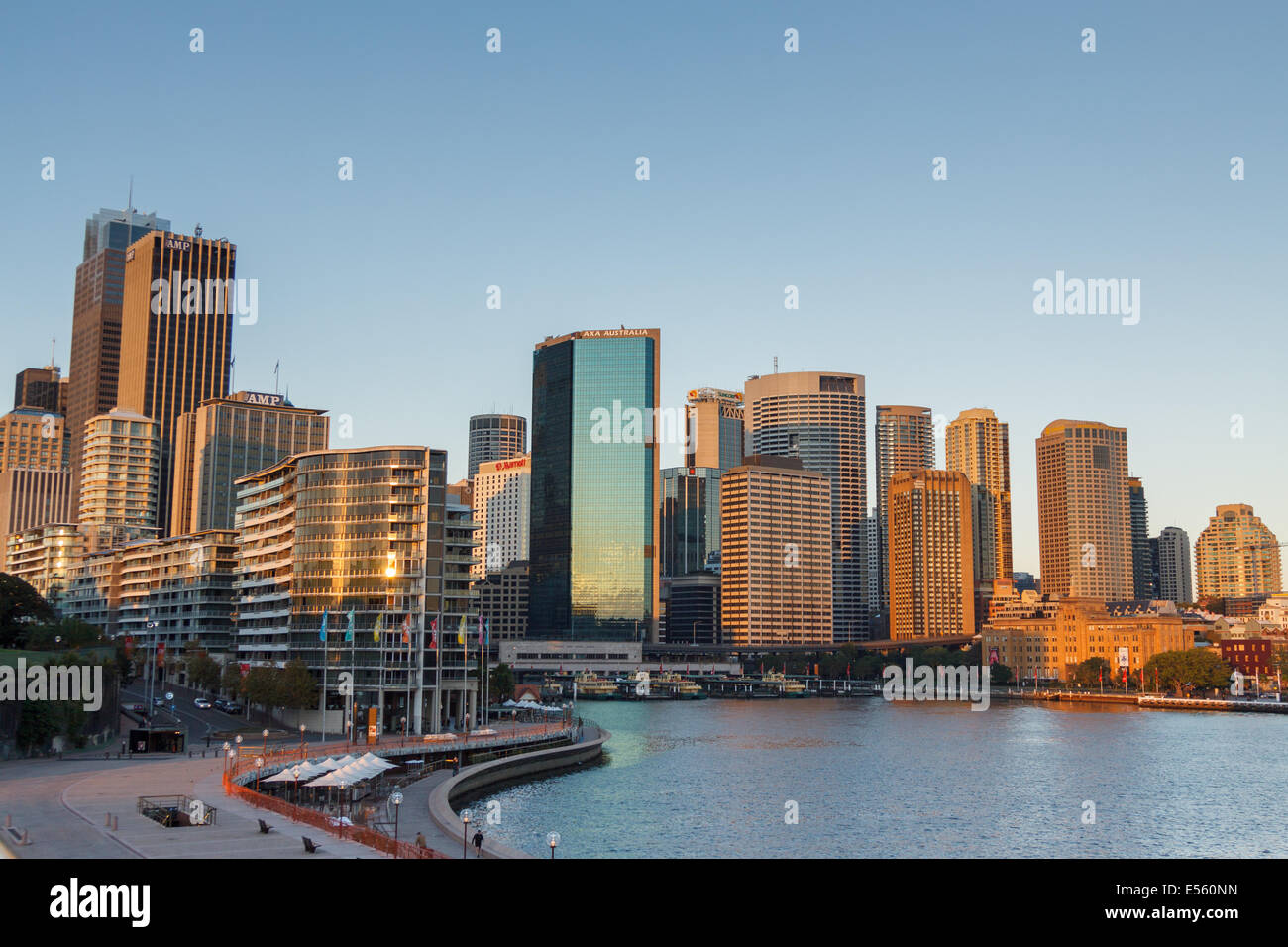 Sydney Central Business District at sunrise, Sydney,New South Wales,Australia,Oceania - Stock Image