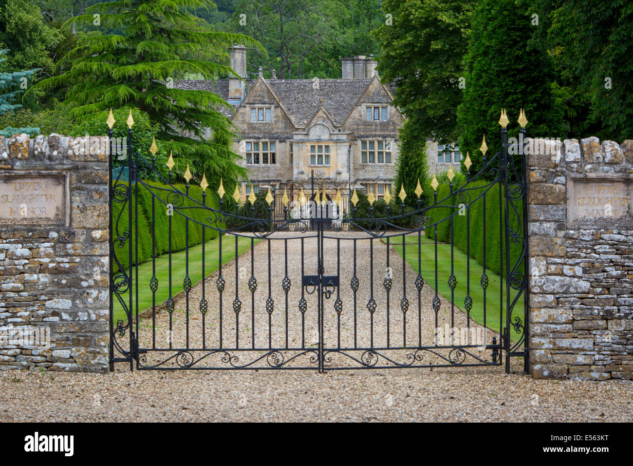 Upper Slaughter Manor House, the Cotswolds, Upper Slaughter, Glocestershire, England - Stock Image