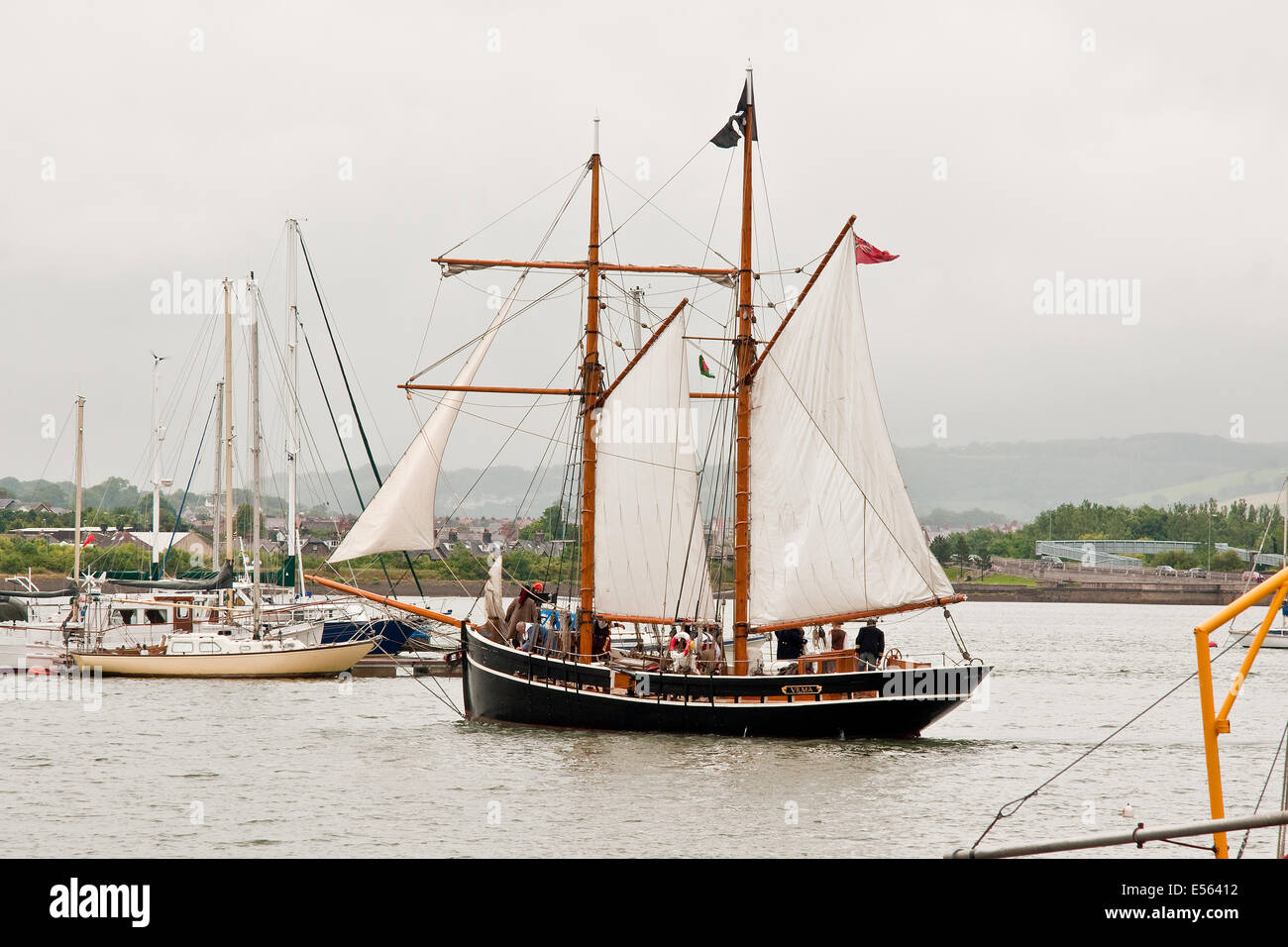 A Pirate Schooner Ship Stock Photos & A Pirate Schooner Ship Stock
