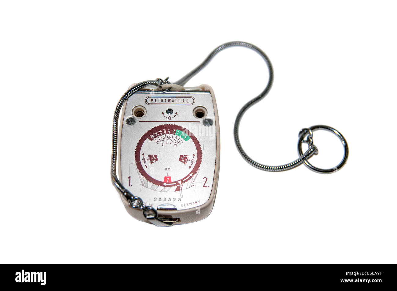 German made Metrawatt Horvex 3 (Circa 1960) Light meter on white background - Stock Image
