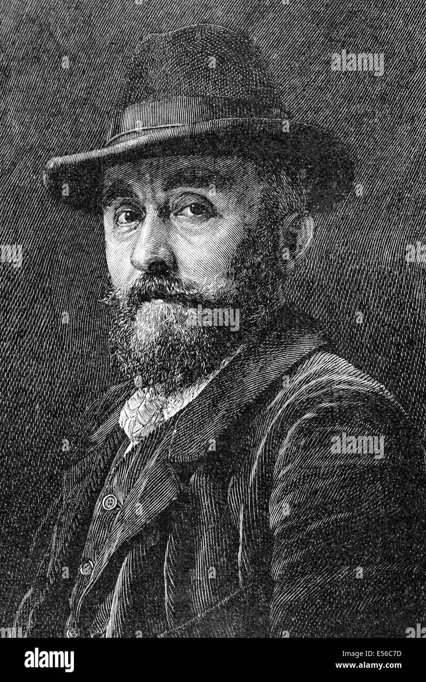 Adolf Mannchen (1860-1920). German painter. Engraving. La Ilustracion Artistica, 1899. Stock Photo