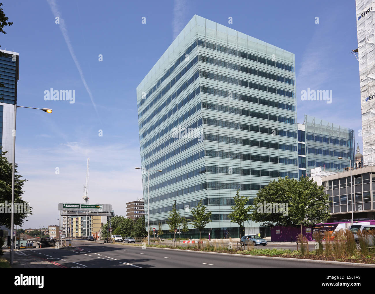 Bernard Weatherill House, Croydon Council's controversial new 'Hub' headquarters building next to Croydon - Stock Image