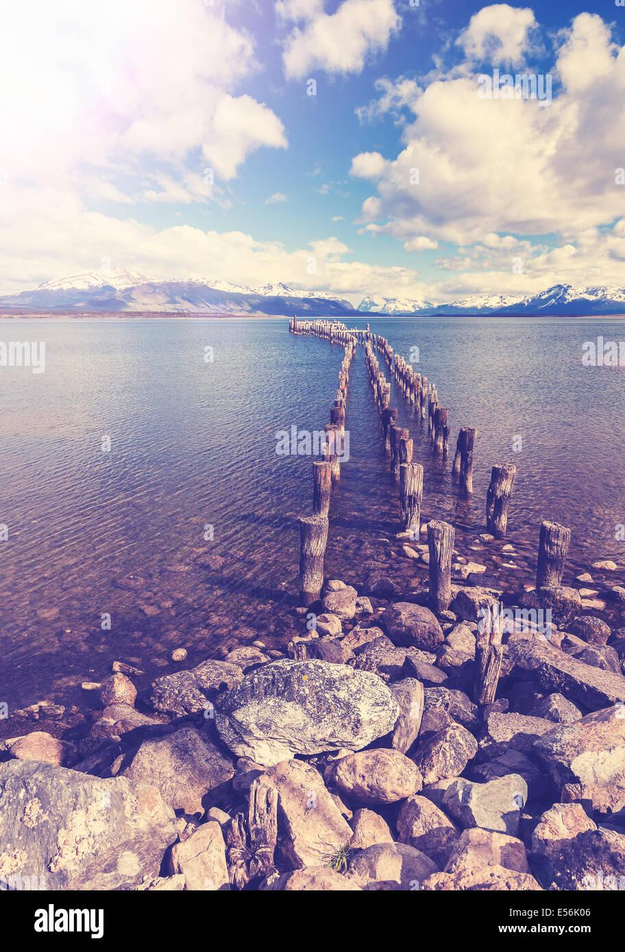 Vintage landscape. - Stock Image
