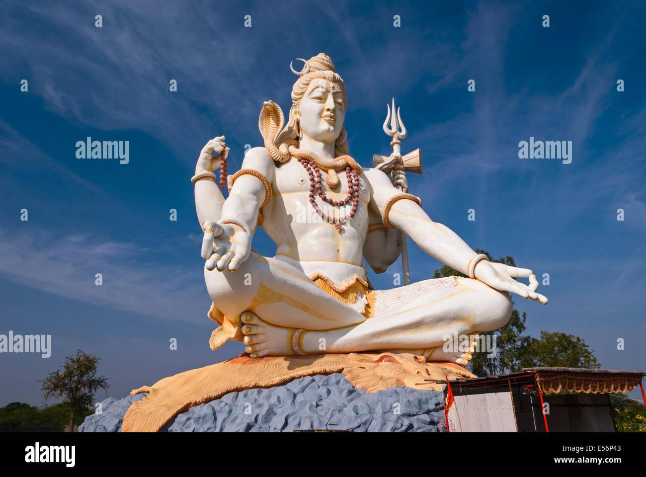 Shiva statue Bijapur Karnataka India Stock Photo