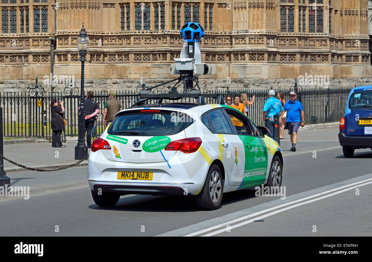 Map Of England Google.London England Uk Google Maps Streetview Car In Westminster Stock