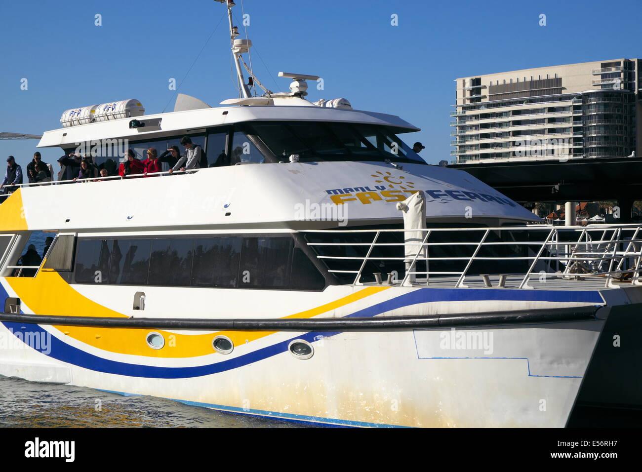 Manly fast ferry sydney ferry ferries at Circular quay